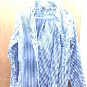 Men's Size S Blue/White Dress Shirt Ben Sherman